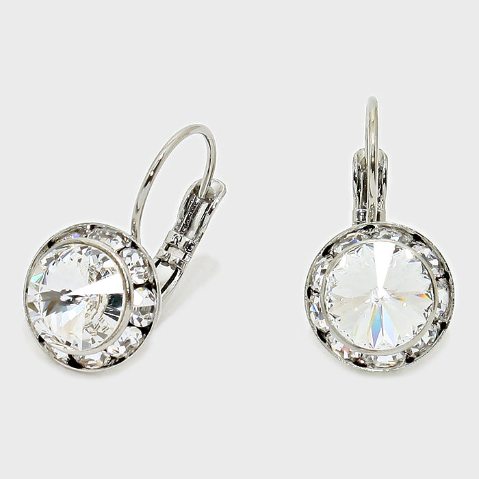 Sparkling Austrian Crystal Clear earrings