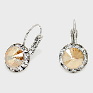 Sparkling Austrian Crystal Gold earrings