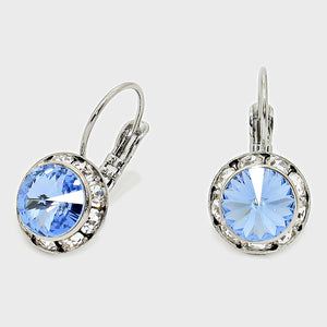 Sparkling Austrian Crystal Blue earrings