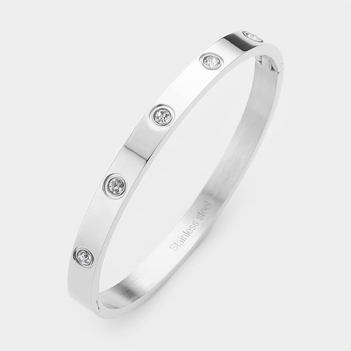 Crystal Stainless Bangle