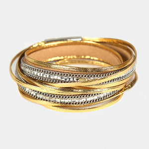 Crystal Double Wrap Gold bracelet