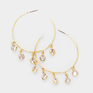 Boho Crystal Drop hoops