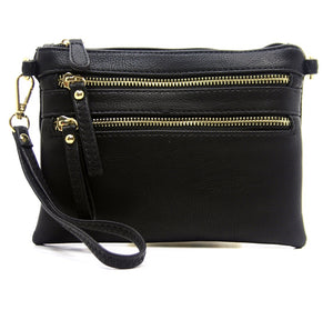 Vegan Leather Convertible Crossbody bag