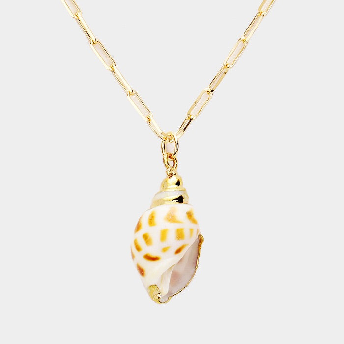 Authentic Shell Gold Embellished pendant