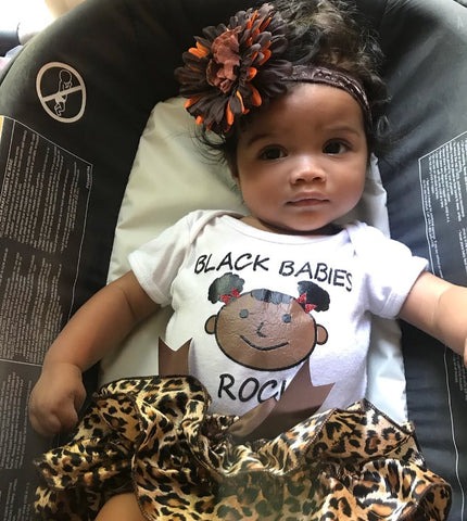 Black Babies Rock Romper Bundle
