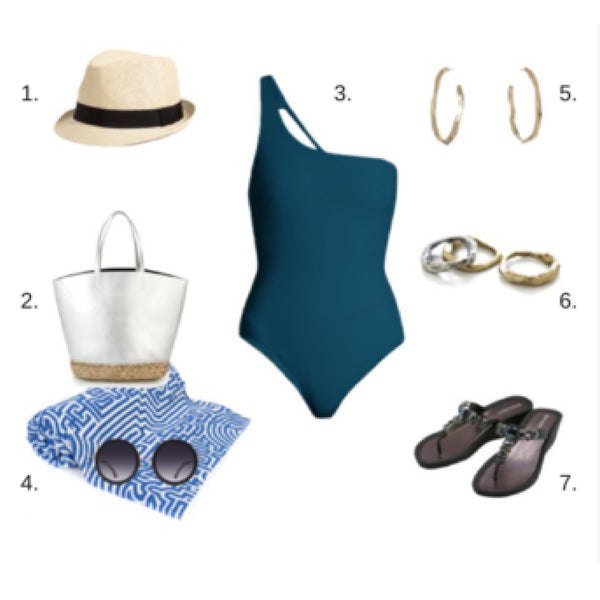 Summer bathing suit: Montauk style