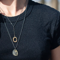 Skipping Stones Rutilated Quartz Pendant-Chikahisa Studio