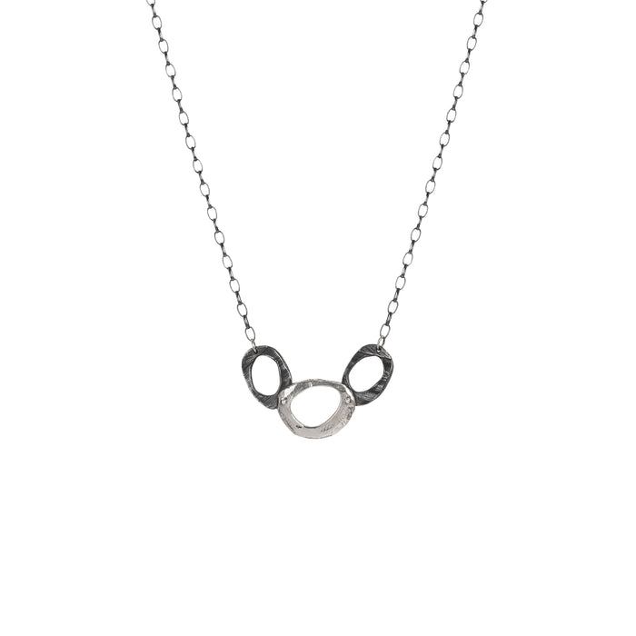 Silver Oval Necklace-Chikahisa Studio