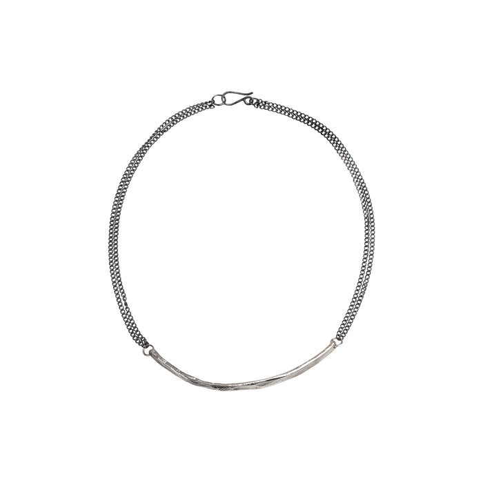 Silver Bar Necklace-Chikahisa Studio