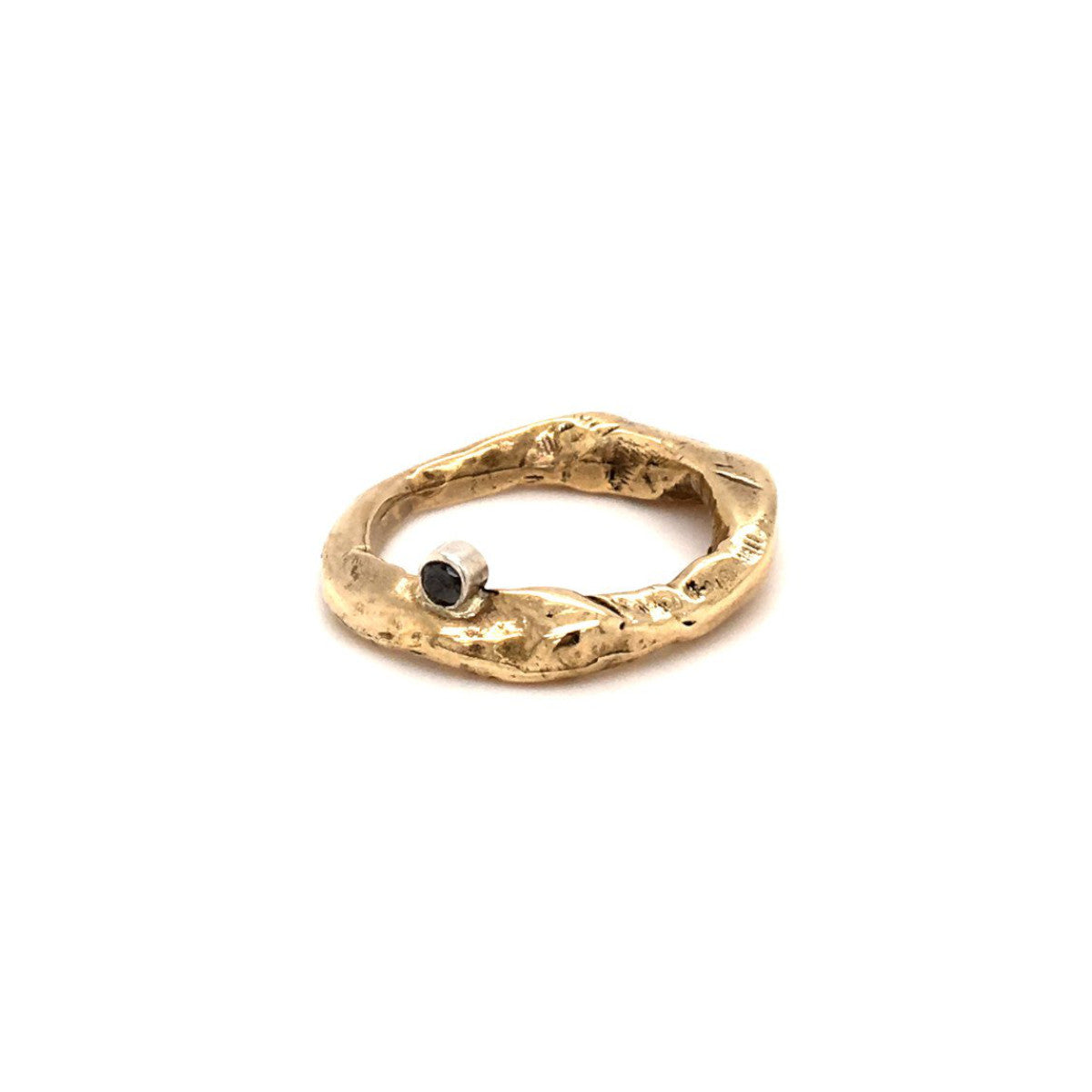 Bronze Mystic Stone Ring with 2.5 Black Diamond