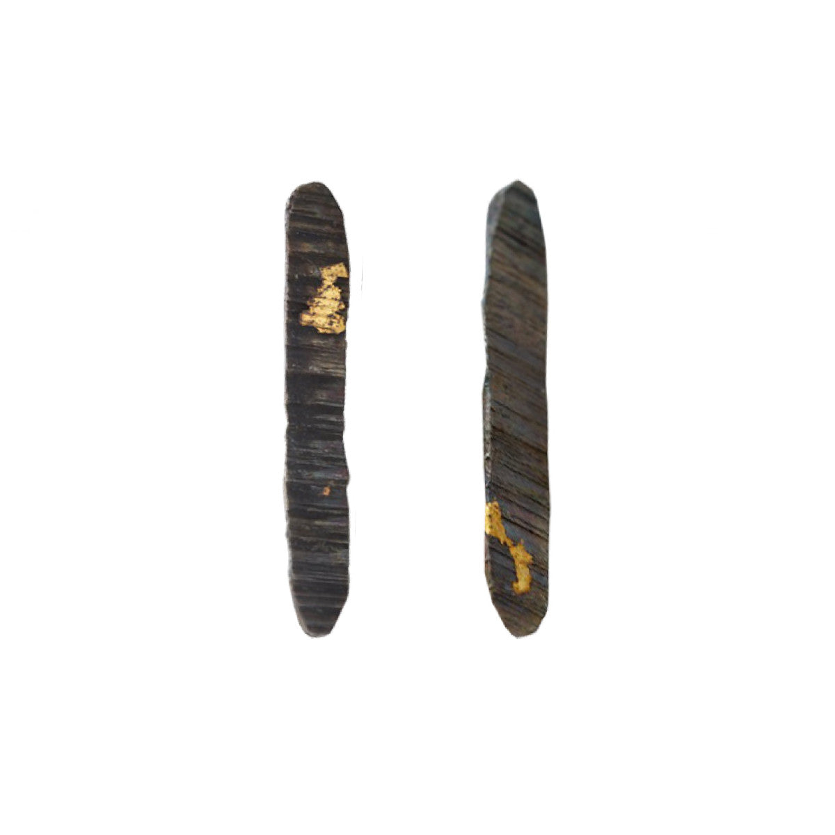 Black & Gold Stonehenge Flat Earrings