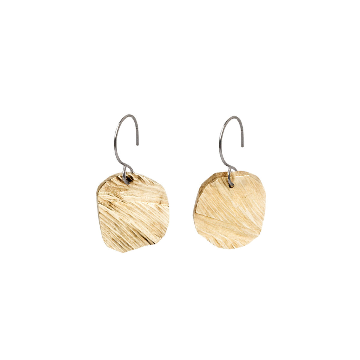 Bronze Elemental Square Drop Earrings