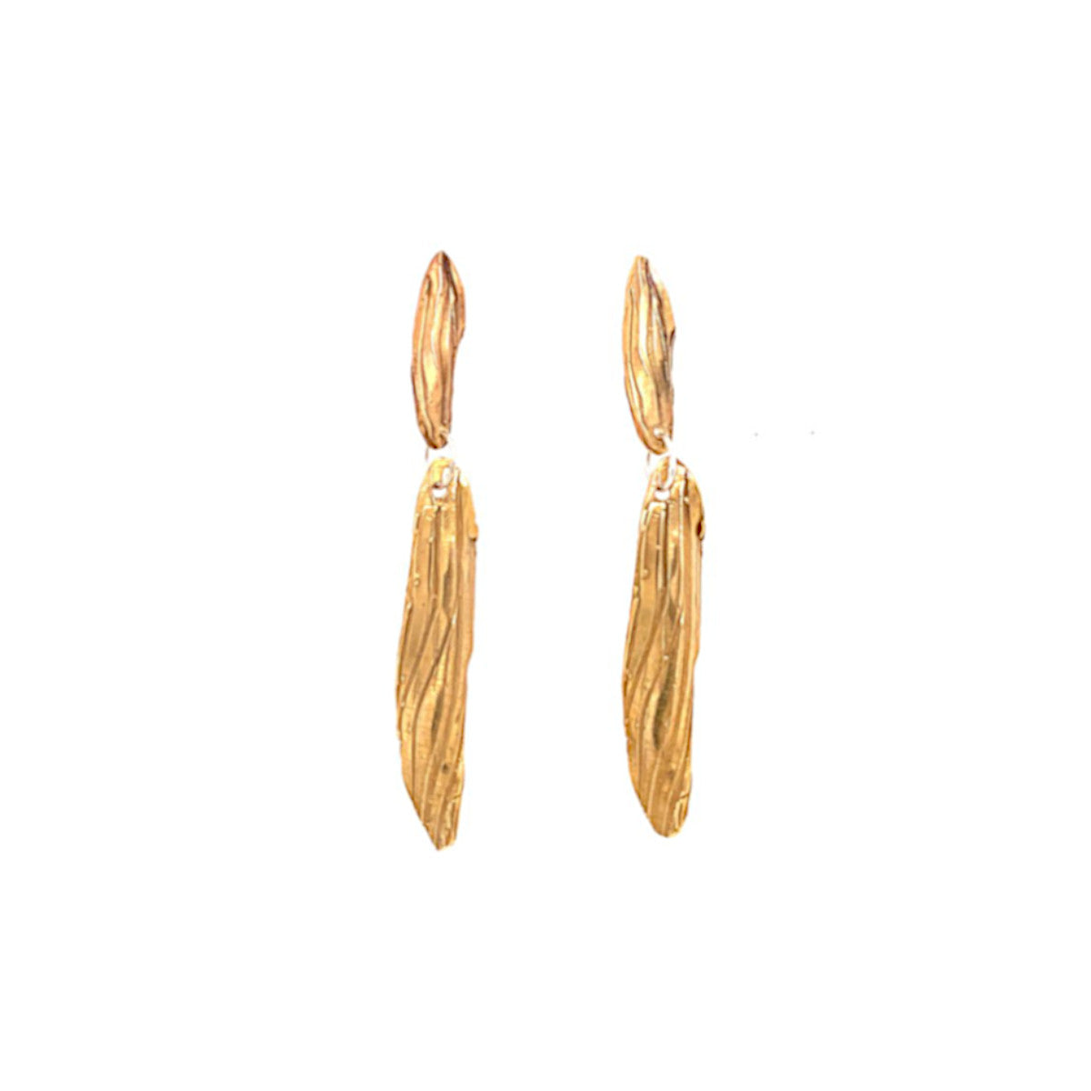 Bronze Leaf Drop Earring