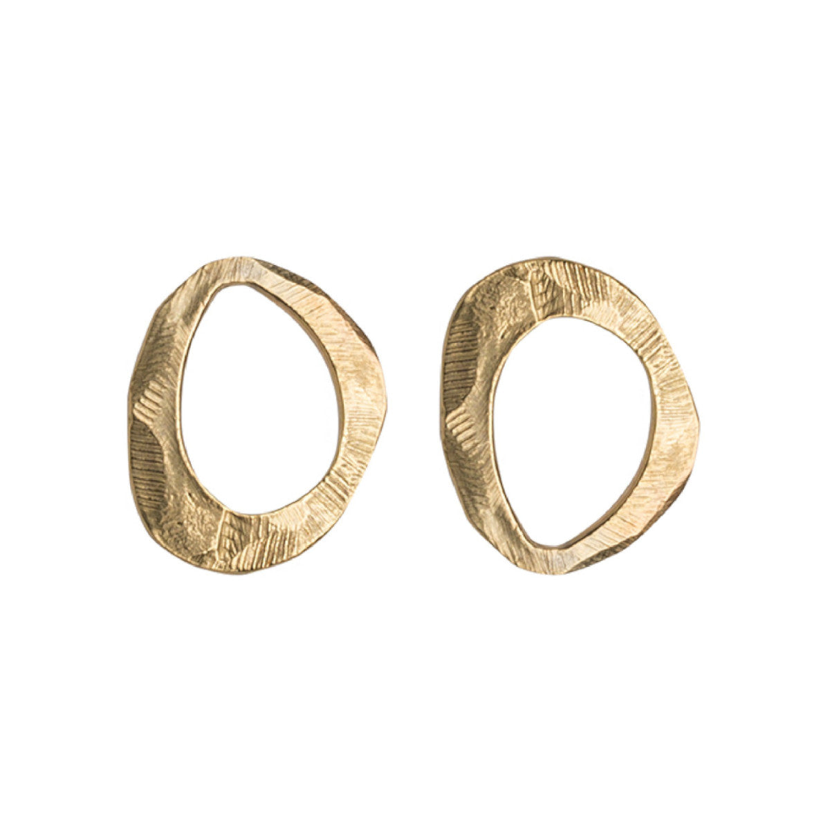 Bronze Mystic Large Oval Stud