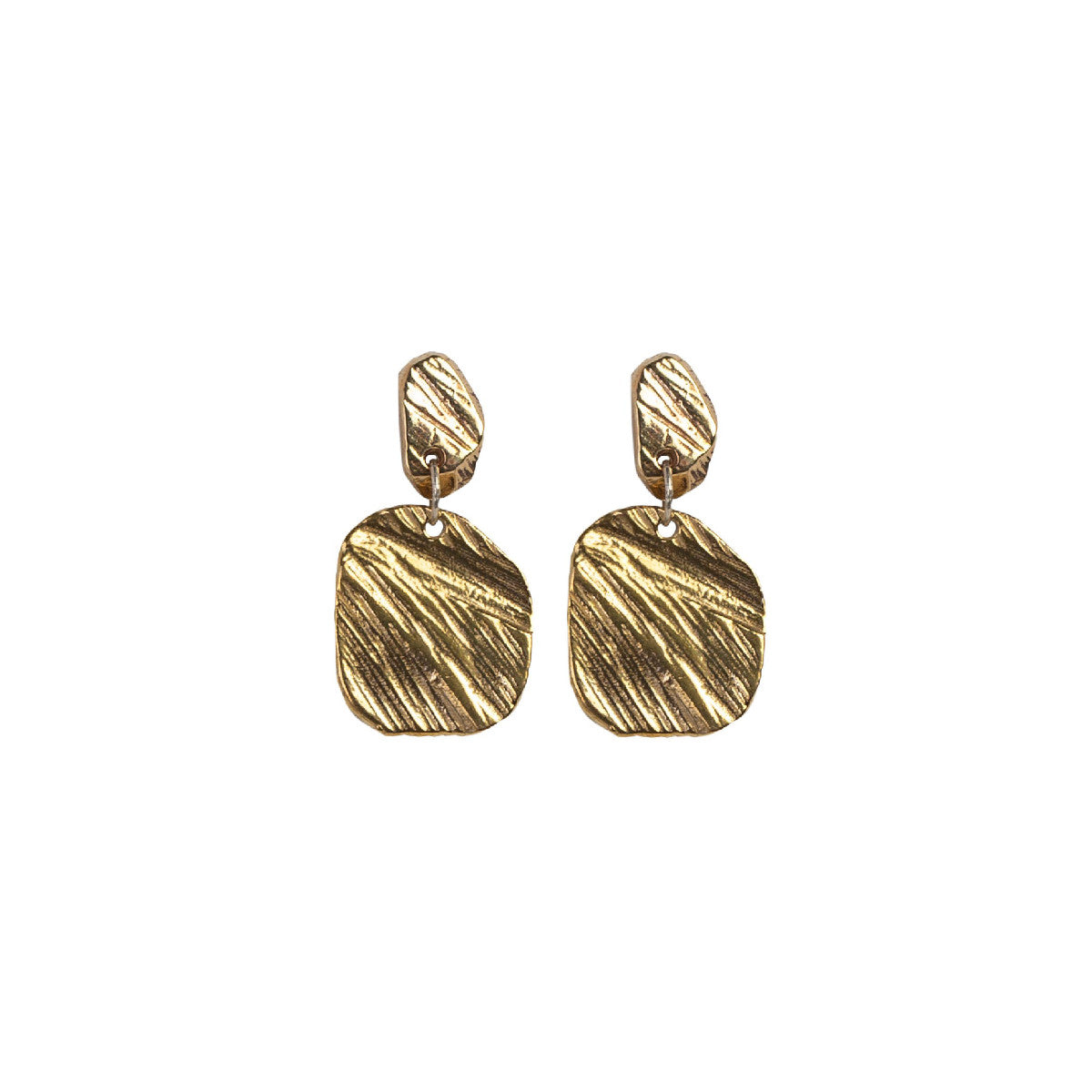 Bronze Square Drop Earring