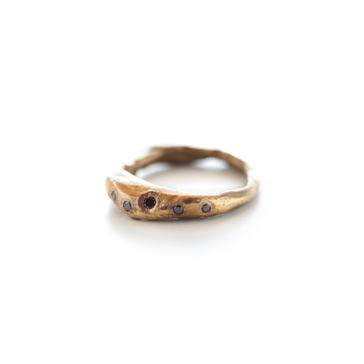 Bronze Stone Five Diamond Ring