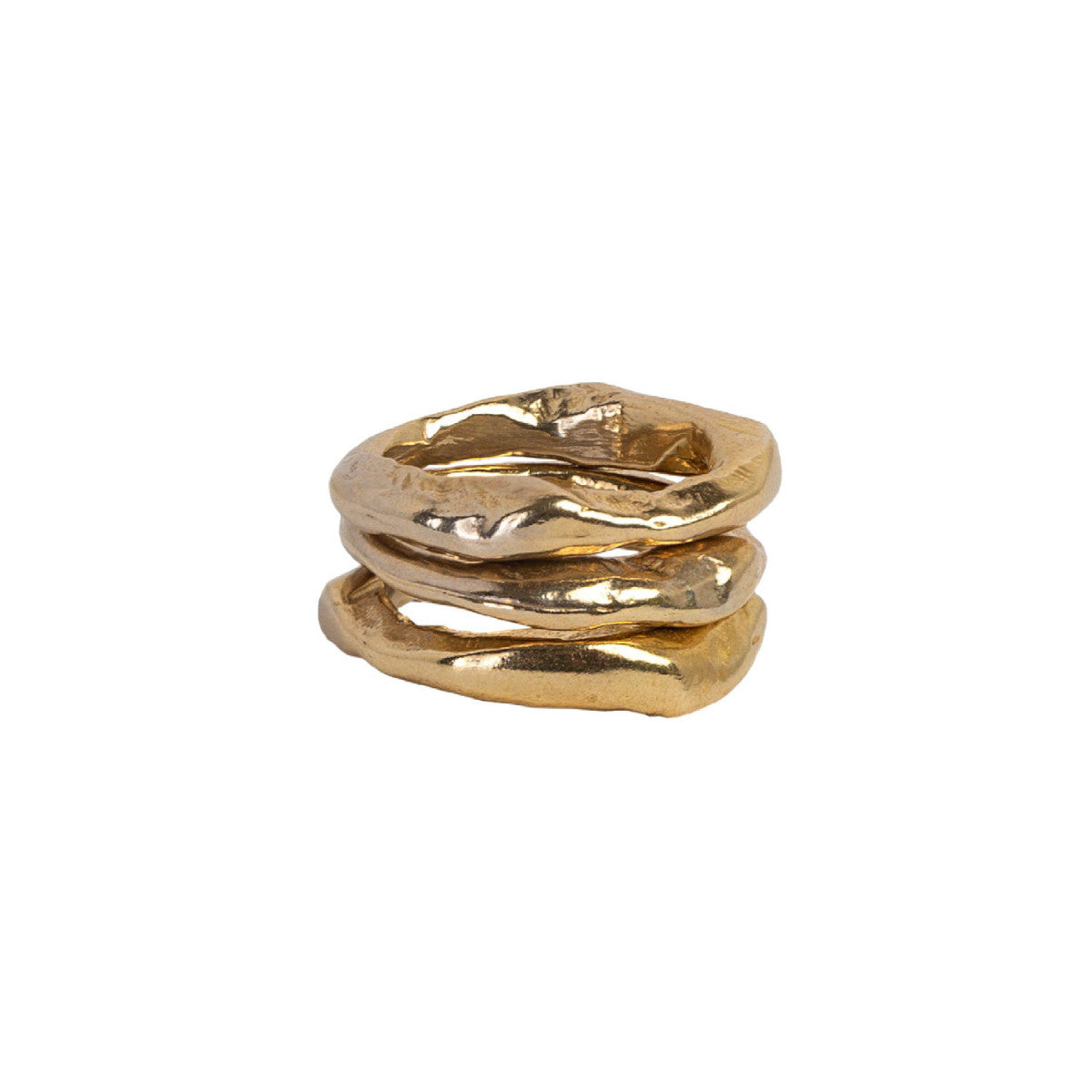 Bronze Stone Stacking Rings