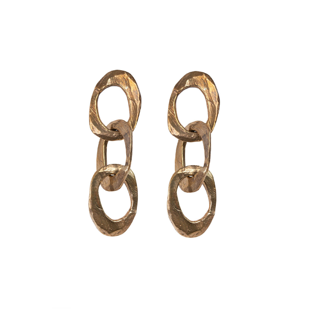 Bronze Triple Chain Earring