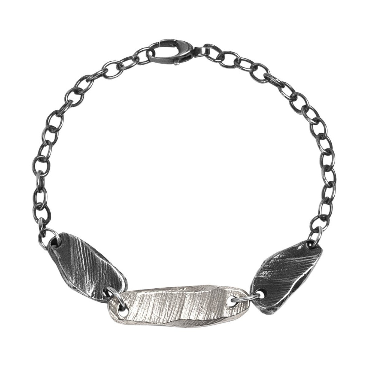 Mixed Metal Bracelet Sterling Silver