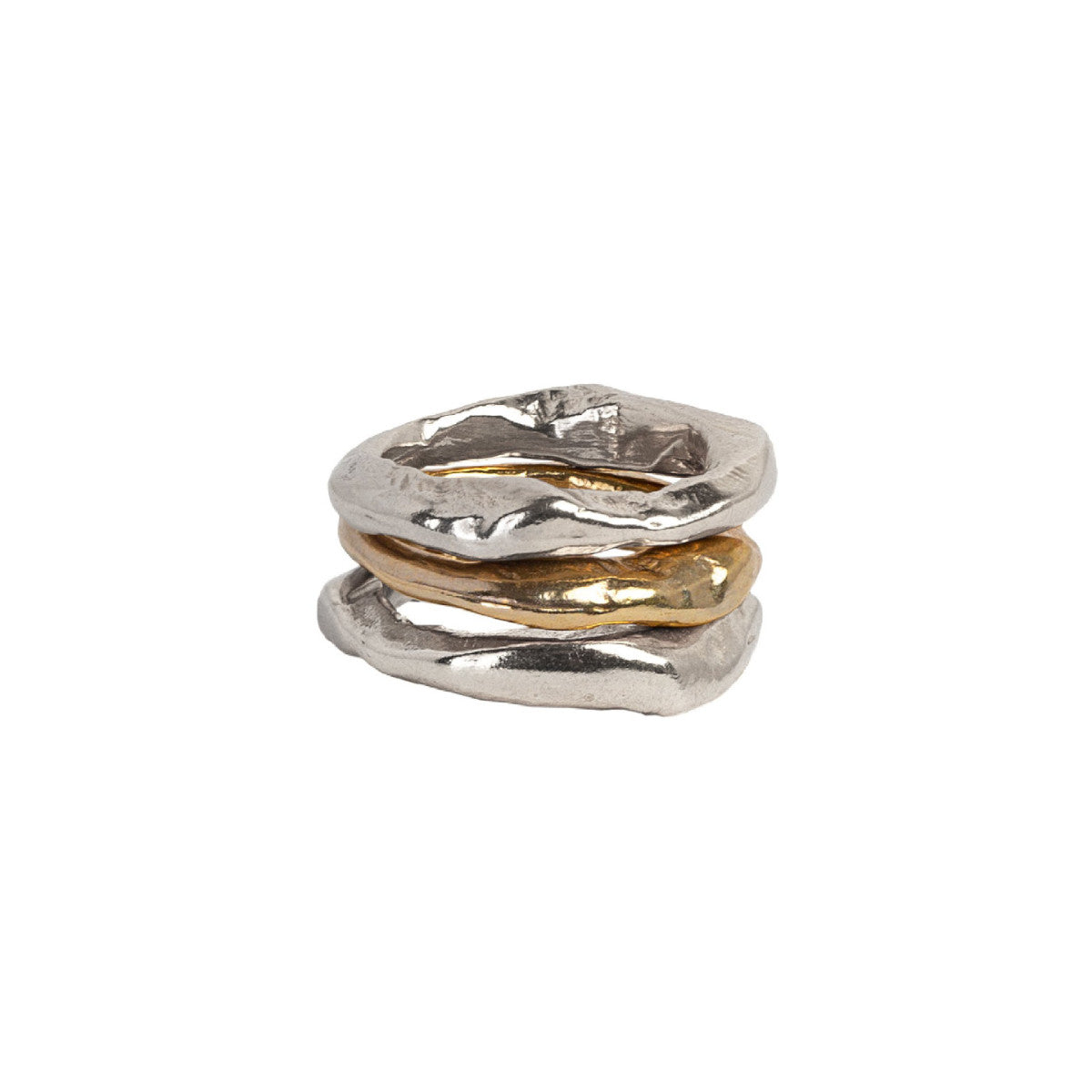 Mixed Metals Stone Stacking Rings Combination 2