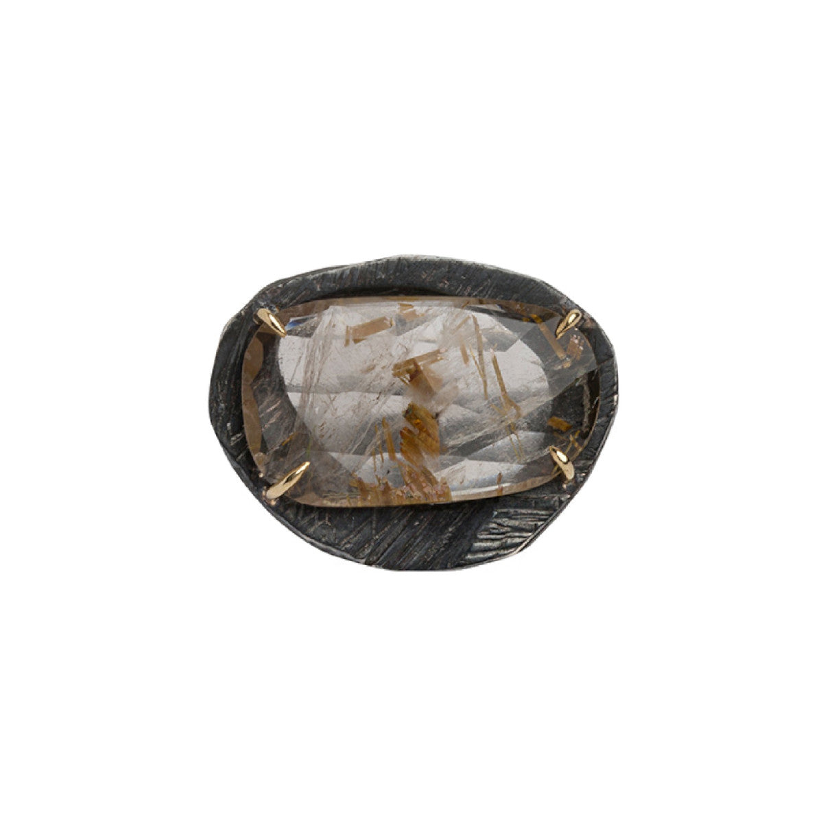 Mystic Medium Rutilated Gemstone Ring