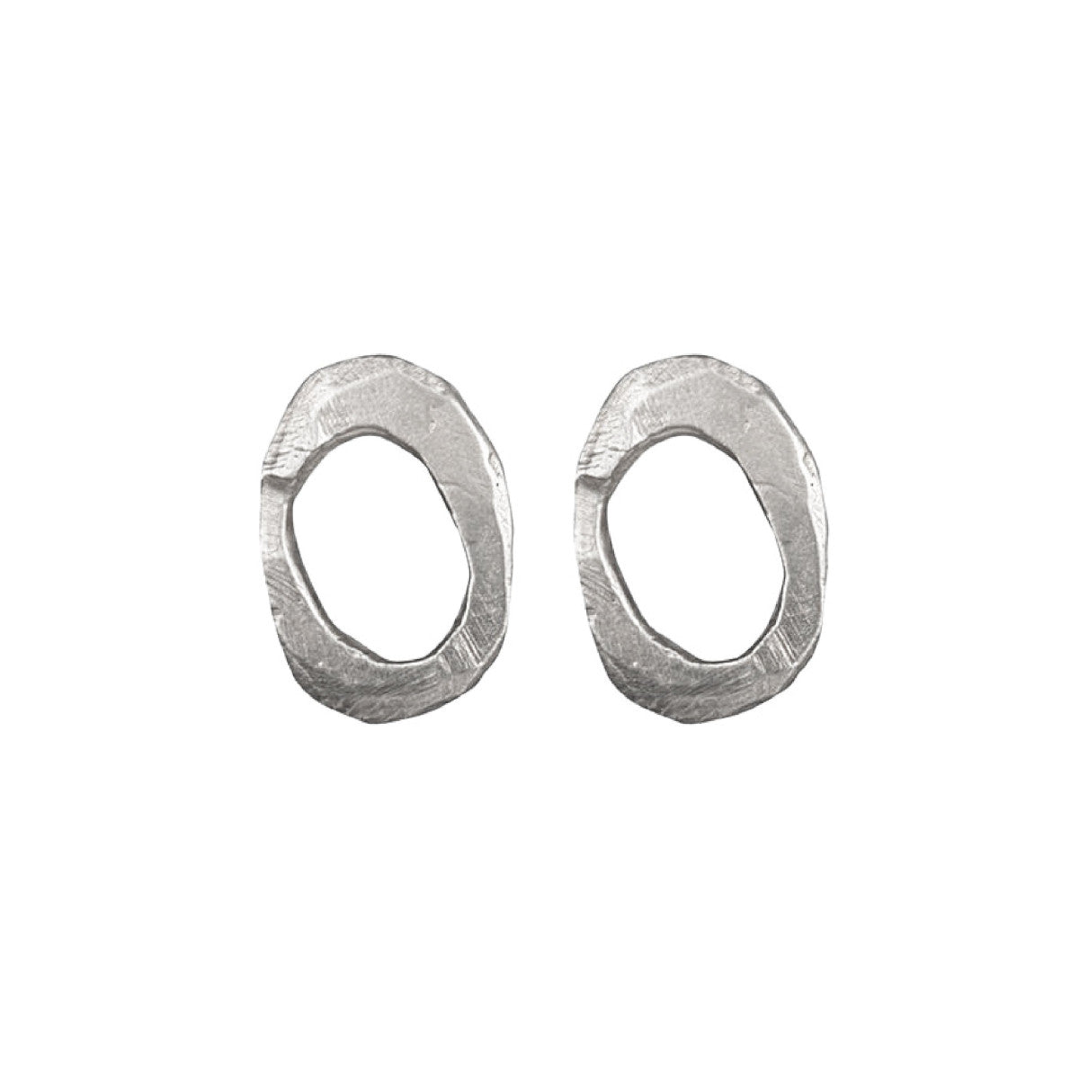 Silver Skipping Stones Stud