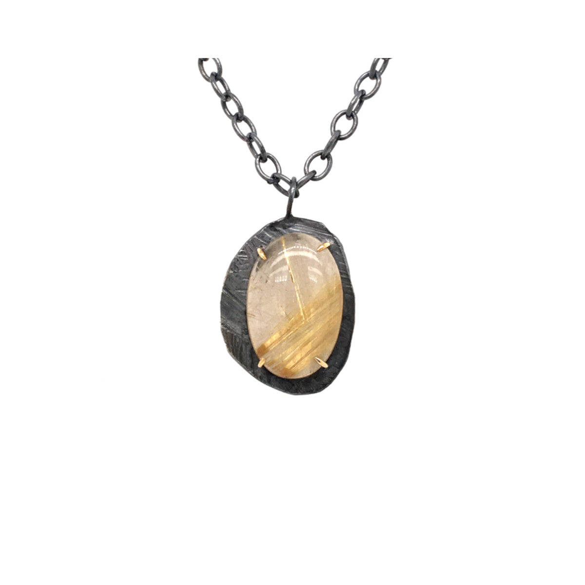 Skipping Stones Rutilated Quartz Pendant