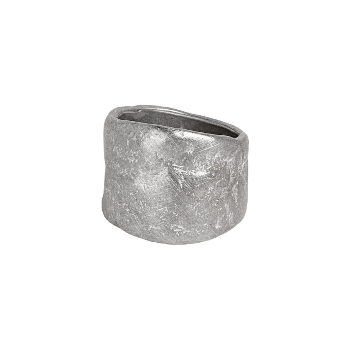 Sterling Silver Stone Roman Band Ring
