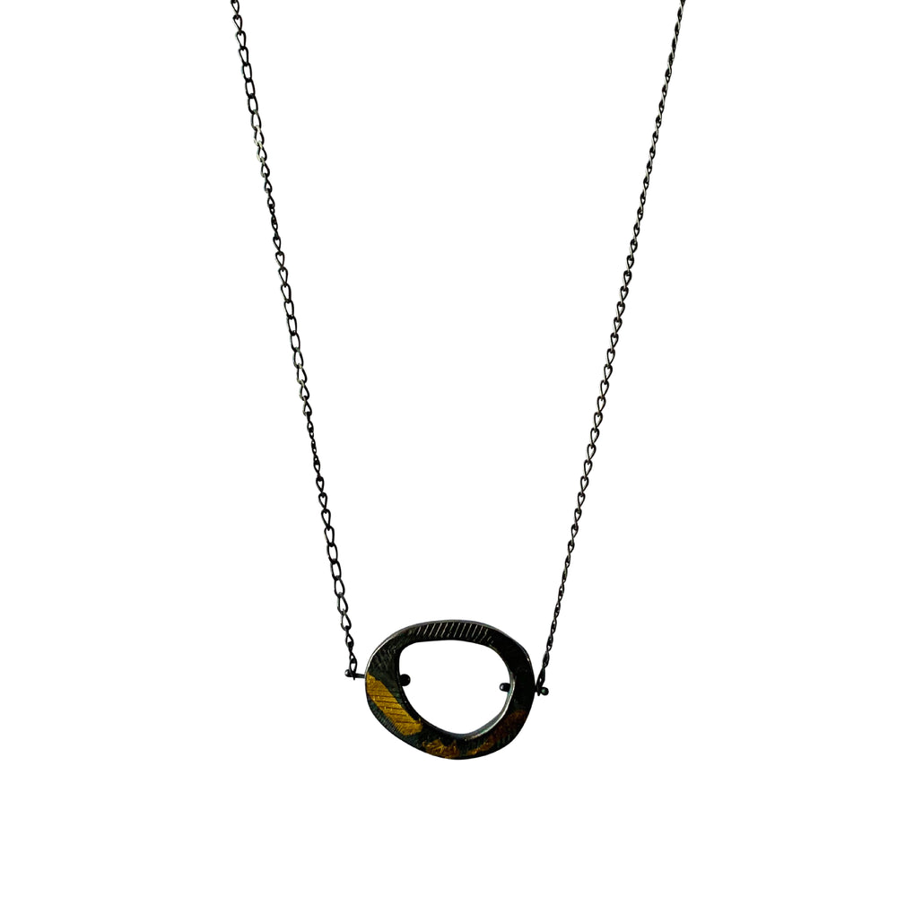Keum Boo Skipping Stones Simple Necklace-Chikahisa Studio