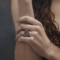 Mystic Oval Ring with Diamond-Chikahisa Studio