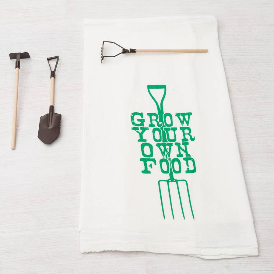 Grow Your Own Food Tea Towel
