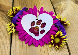 Metal Paw Print Ornament