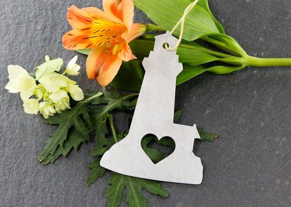 Lighthouse Metal Ornament
