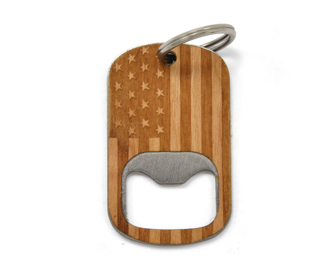 American Flag Bottle Opener Keychain