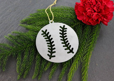 Metal Baseball Ornament
