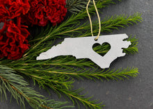 Load image into Gallery viewer, Metal North Carolina Ornament