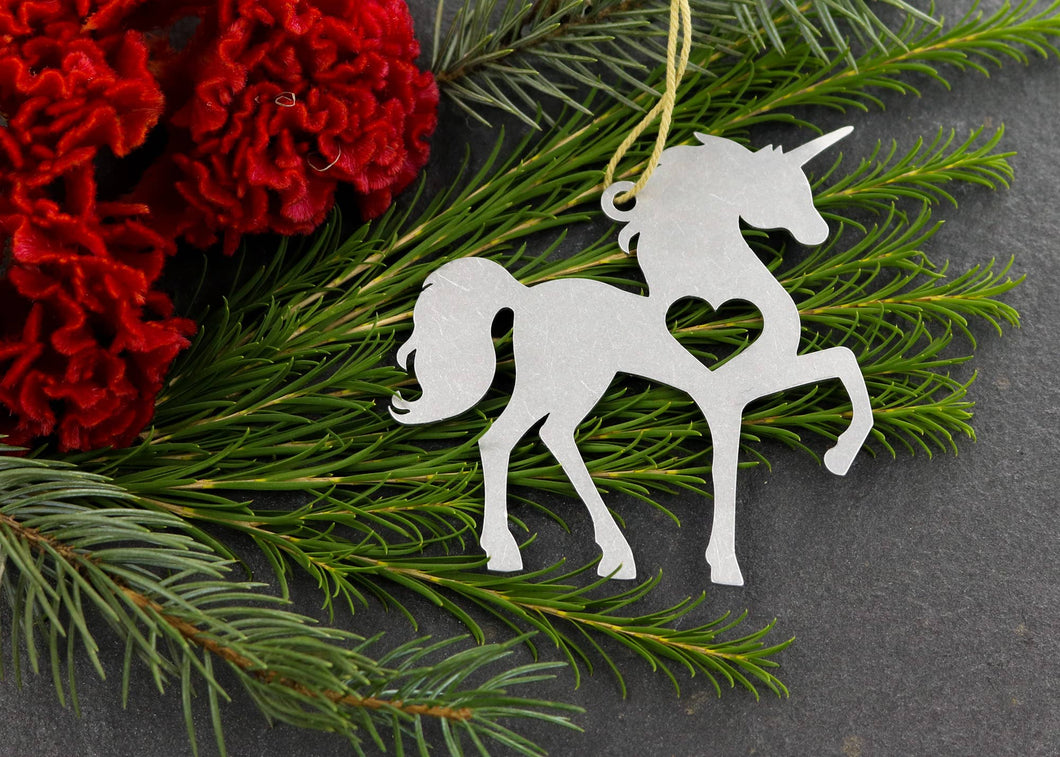 Unicorn Metal Ornament