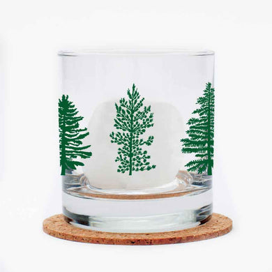 Pine Tree Rocks Glass