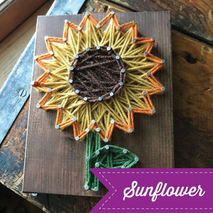 Sunflower Mini String Art Kit