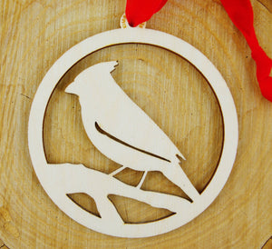 Cardinal Wood Ornament