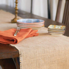 Load image into Gallery viewer, Burlap Natural Table Runner