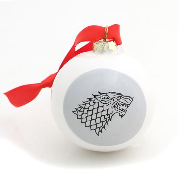 Let it Snow Direwolf Ball Ornament