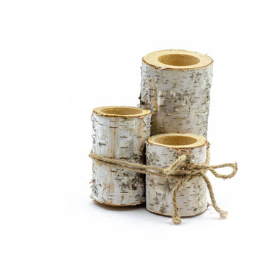 Birch Candle Holder Set