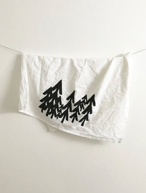 Modern Pine Tree Towel