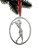 Load image into Gallery viewer, Pewter Female Golfer Ornament