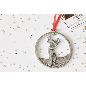 Pewter Male Golfer Ornament
