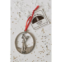 Load image into Gallery viewer, Pewter Male Golfer Ornament