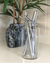 "Load image into Gallery viewer, Reusable Straw - 8.5"" Bent Straw - Stainless Steel"