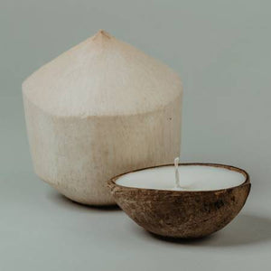 Coconut Shell Candle - Coconut Water