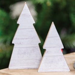 Mini Shiplap Trees - Set of 2